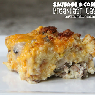 Sausage & Cornbread Breakfast Casserole