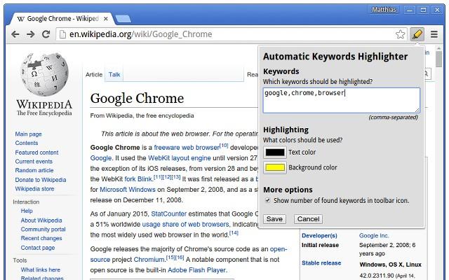 Automatic Keywords Highlighter