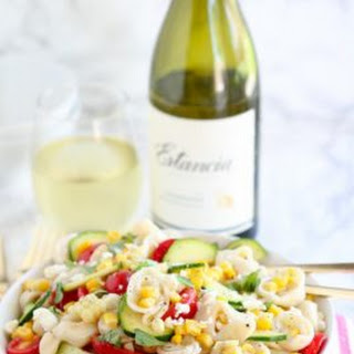Cheese Tortellini Salad with Corn and Tomatoes