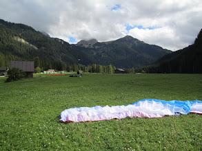 Photo: The trusty Ozone Swift 2 L in the Col Rodella LZ