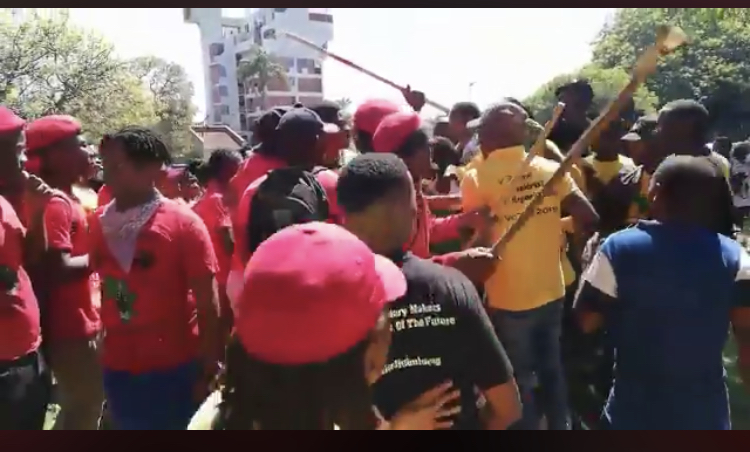 South African Student Congress (Sasco) members say they were attacked by stick-wielding EFF Student Command (EFFSC) students during a protest at the Durban University of Technology on Monday February 4 2019.
