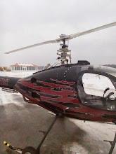 Photo: Rotorway A600 main rotor balancing