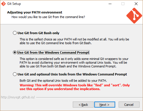 git from window's command prompt