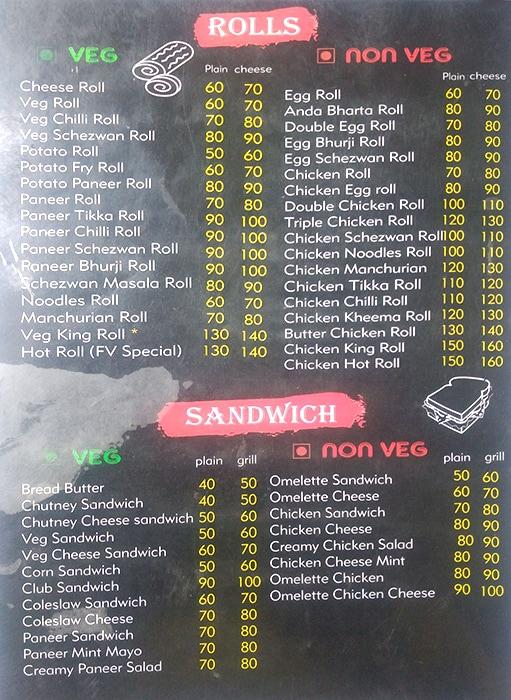 Food Vibes menu 1