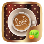 (FREE)GO SMS LOVE COFFEE THEME