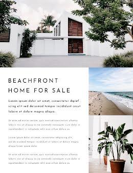 Beachfront Sale - Real Estate Flyer item