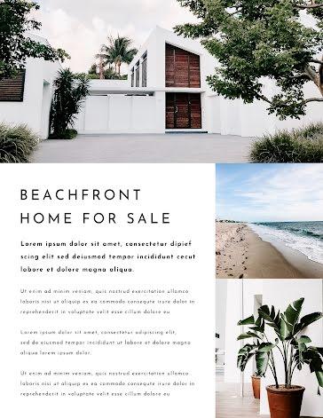 Beachfront Sale - Flyer Template