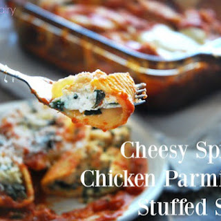 Stuffed Shells with Cheesy Spinach Chicken Parmigiana
