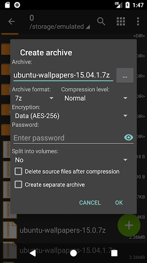 ZArchiver 0.9.1 screenshots 3