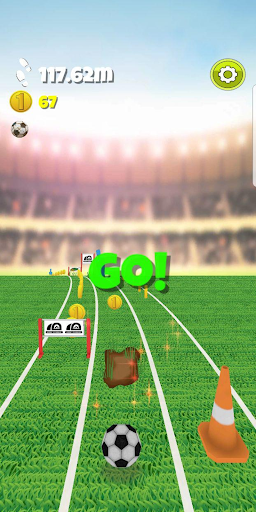 Football Runner - The Endless soccer game screenshot 1