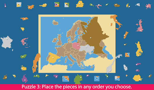 Europe - Montessori Puzzle Map- screenshot thumbnail
