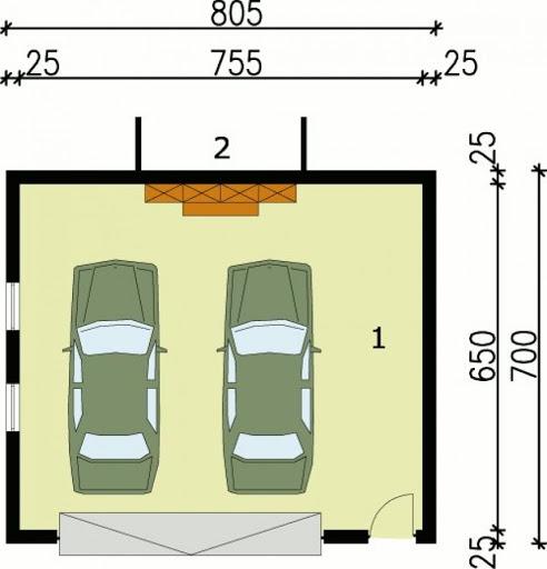 G68 - Rzut garażu
