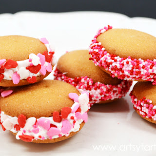 Mini Valentine Sandwich Cookies