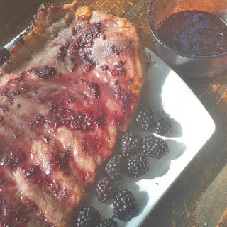 Blackberry Balsamic Glazed Pork Ribs