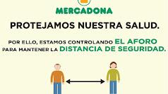 Imagen difundida por Mercadona respecto a las medidas por el coronavirus.