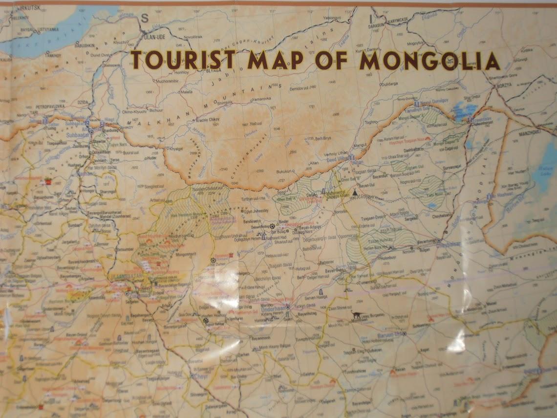 Mongólia térképe