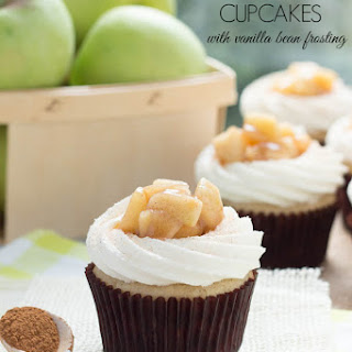 Apple Pie Cupcakes with Vanilla Buttercream Frosting