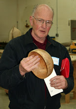 Photo: Stan Sherman brought this nice bowl in spalted hickory...