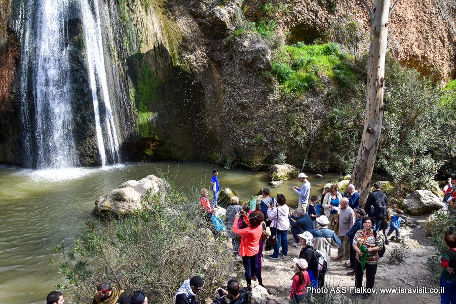 Гид в Израиле Светлана Фиалкова. Водопад Ха-Тахана (Мельница) на ручье Аюн. Заповедник Нахаль Аюн. Верхняя Галилея. Израиль.