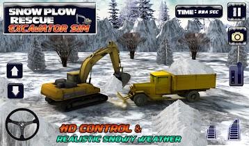 Winter Snow Rescue Excavator - screenshot thumbnail 14