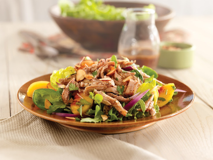 Pulled Pork Salad with Peaches and Cilantro