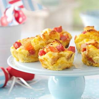 Ham and Cheese Mini Stratas