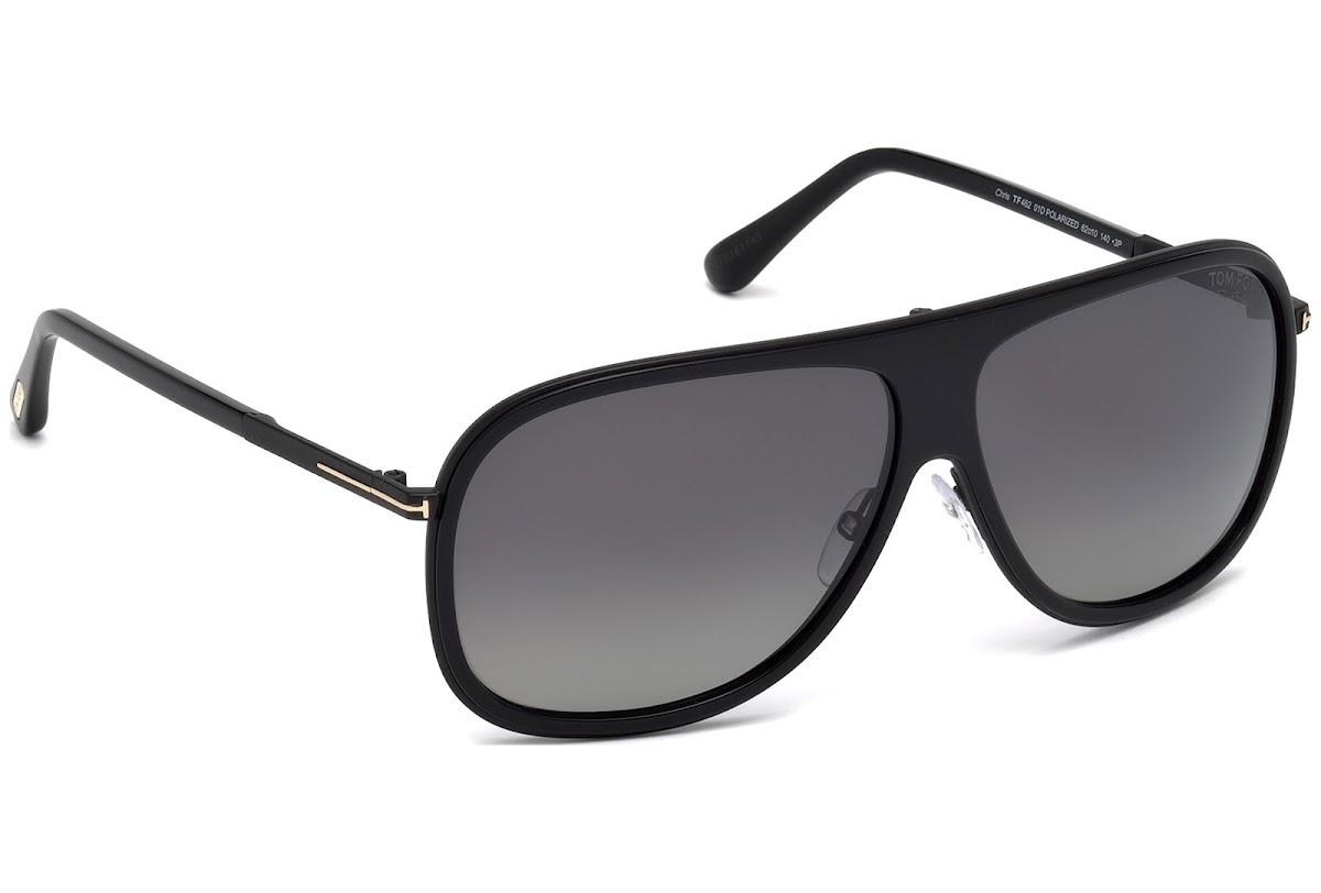 b155e0a0a97a Polarized Sunglasses Tom Ford Chris FT0462 C62 01D (shiny black   smoke  polarized)