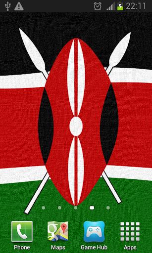 Kenya Flag Live Wallpaper