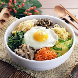 Korean Mixed Vegetables and Rice (Bibimbap)