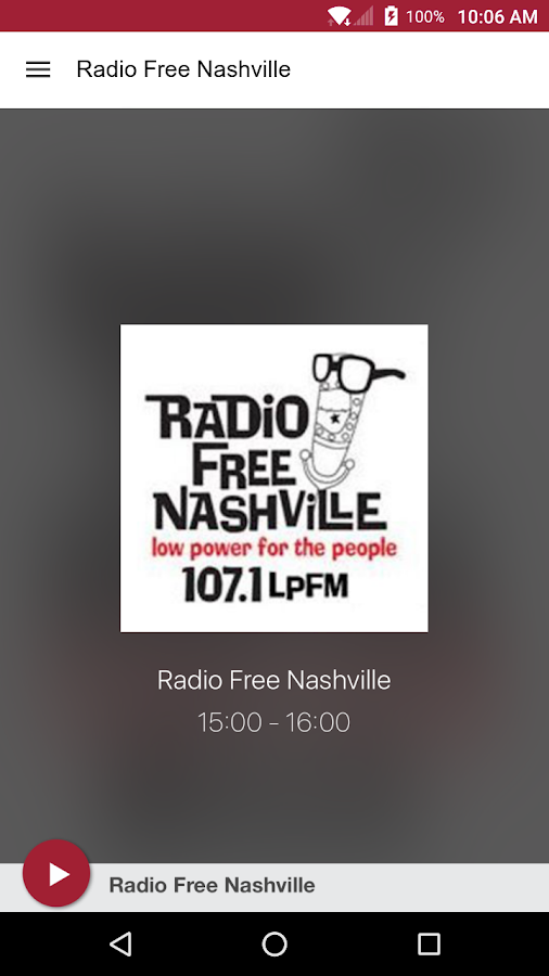 Radio Free Nashville- screenshot
