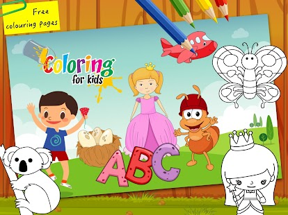 Colouring Pages Of Abc : Abc coloring pages painting for kids learning android apps on