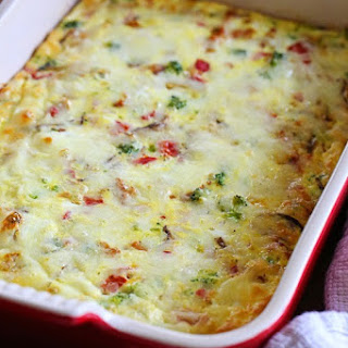Sausage, Cheese and Veggie Egg Bake.