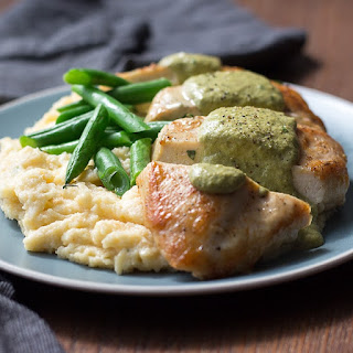 Chicken with Poblano Peppers and Cream.