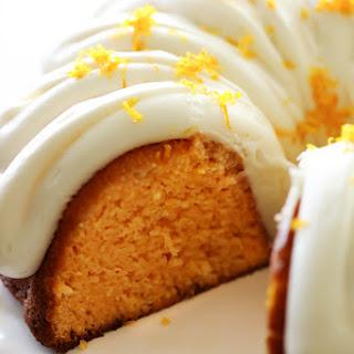 Orange Creamsicle Bundt Cake.
