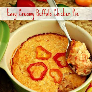 Easy Creamy Buffalo Chicken Pie (grain free)