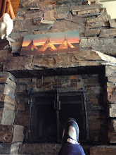 Photo: Fireplace at Moonlight Basin lodge