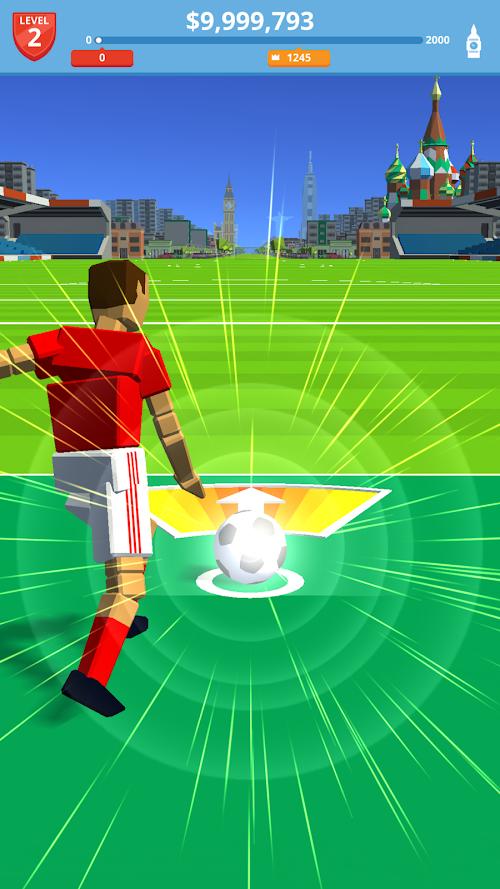 Screenshot 1 Soccer Kick 1.7.2 APK MOD