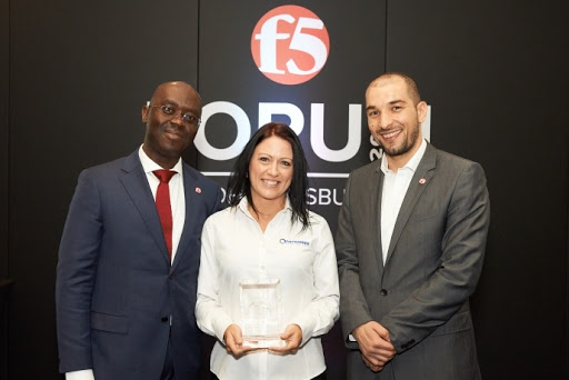 F5 distributor of year award 2019.