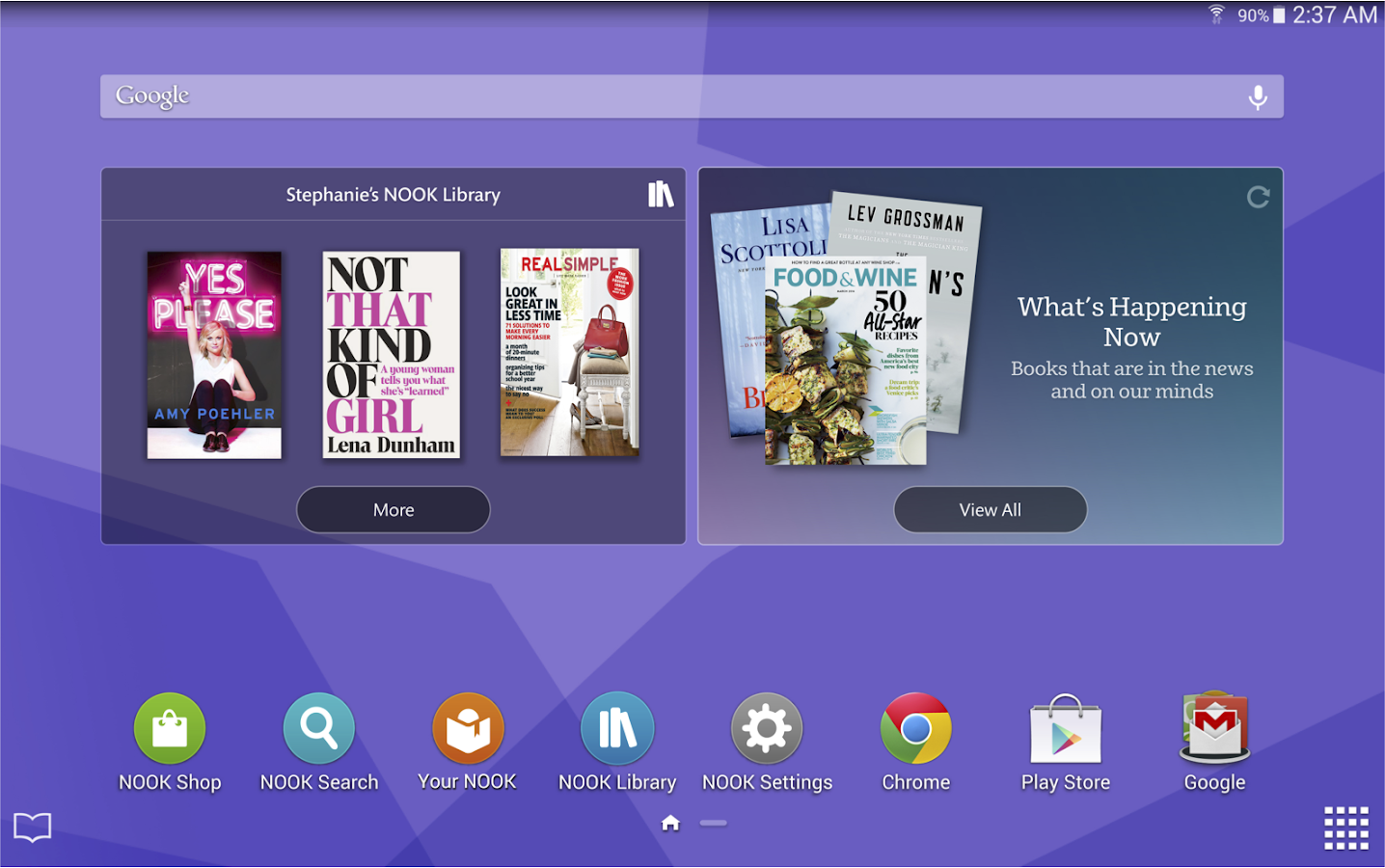 nook for android app