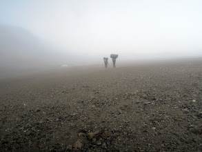 Photo: Finally reached the crater...in fog and snow