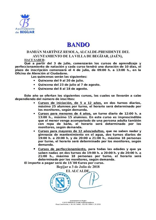 Bando Natación 2018