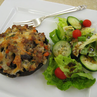 Sausage-Stuffed Portobello Mushrooms.