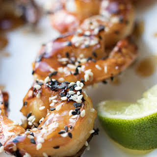 Grilled Teriyaki Sesame Shrimp.