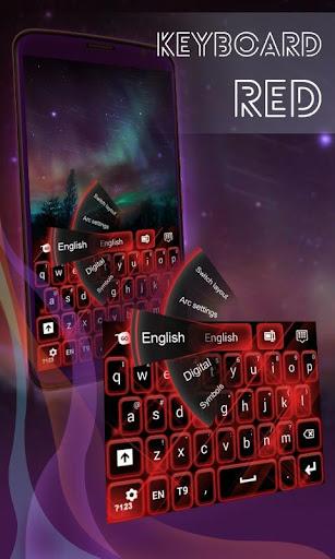 赤いキーボードグローGO