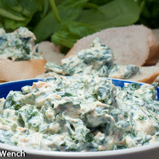 Spinach Dip with Fresh Baby Spinach