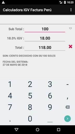 Calculadora Factura IGV Perú