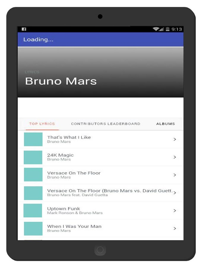 Screenshots of Bruno Mars Full Music and Lyrics - Count On Me for iPhone