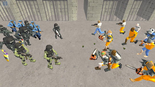 Battle Simulator: Prison & Police  Apk Download For Android and Iphone 6
