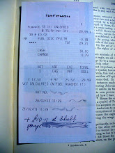 Photo: A Safeway garage receipt (I blurred out some parts I wasn't sure about) from 2003, found in A Lexicon of Freemasonry (printed 1919). It's nothing to us, but someone will probably find that in a hundred years and find it fascinating.