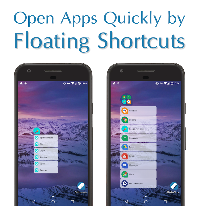 Floating Shortcuts \341\264\276\341\264\277\341\264\274 Screenshot